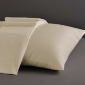Desire Collection Ivory Standard/Queen Set of Two Pillow Cases 400TC, 100% ELS Cotton.