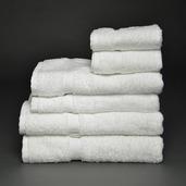Essential White 6 pieces Bath Set, 100% Cotton.