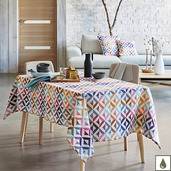 "Mille Twist Warm Tablecloth 59""x87"", Coated Cotton"