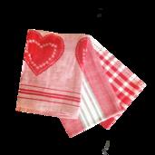 Love In Stripes Kitchen Towels - 3PC SET