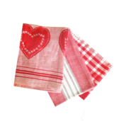 Love In Stripes Kitchen Towels - 3PC SET