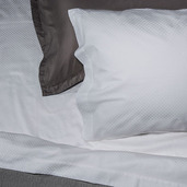 Normandie White 300TC King Pillow Shams /2ea