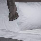 Normandie White 300TC King Pillow Shams /2ea