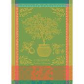 """Citronnier Vert Kitchen Towel 22""""x30"""", 100% Cotton"""