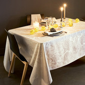 Mille Isaphire Parchemin Tablecloth Round 71, 100% Cotton
