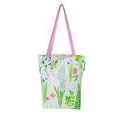 "Mille Herbier Printemps Tote bag 15""x15"", 100% Cotton"