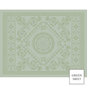 "Empire 2 Set Gris Placemat 14""x18"", Green Sweet"