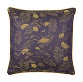 """Mille Feuilles Mini Bleu Dore Cushion Cover 16""""x16"""", Cotton-2ea"""