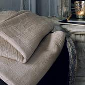 """Bed Cover Cocoon Nacre 89x65"""", Cotton"""