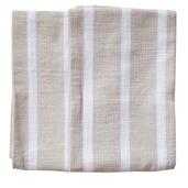 Dobby Stripes Natural Kitchen Towels - SET of 2ea