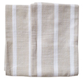 Dobby Stripes Natural Kitchen Towels - SET of 2ea