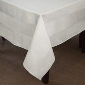 Satin Band Cottonrich White Tablecloth Square 54x54