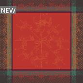 "Carrousel Christmas Napkin 22""x22"", 100% Cotton"