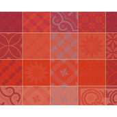 "Mille Tiles Terracotta Placemat 22""x16"", Cotton-4ea"