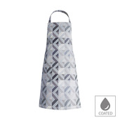"Mille Twist Asphalte Apron 28""x33"", Coated Cotton"