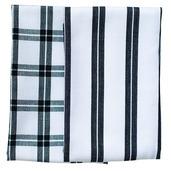 Black Checker Stripes 2pcs Kitchen Towel Set