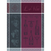 """Le Vin Syrah Kitchen Towel 22""""x30"""", 100% Cotton"""
