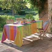 """Mille Patios Provence Tablecloth 69"""" Round Coated"""