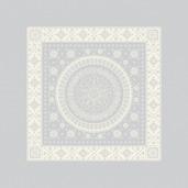 "Imperatrice Uni Argent Napkin 21""x21"", Cotton/Polyester"