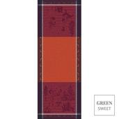"Chant De Noel Bordeaux Tablerunner 22""x59"", Stain Resistant"
