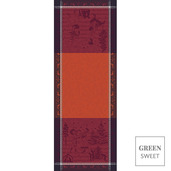 """Chant De Noel Bordeaux Tablerunner 22""""x59"""", Green Sweet"""