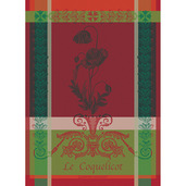 "Coquelicots Carmin 22""x30"" Kitchen Towel, 100% Cotton"