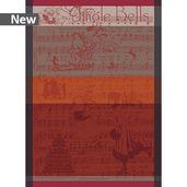 Jingle Bells Cassis Kitchen Towel, Cotton
