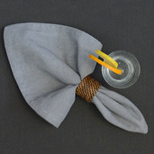 Chevroni Grey Napkin, Cotton-4ea