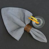 Chevroni Grey Napkin, Cotton-4ea