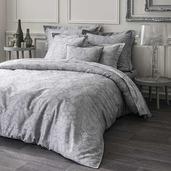 Velvet Grey Duvet Cover, King, Cotton - 1ea