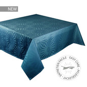 """Mille Riads Petrole Tablecloth 61""""x61"""", 100% Polyester"""