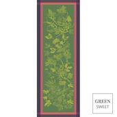 """Plaisirs D Automne Muscat Tablerunner 22""""x59"""", Green Sweet"""