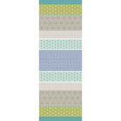 "Mille Geometry Lime Tablerunner 61""x22"", Cotton"