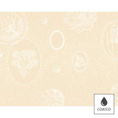 Placemats Mille Eclats Chocolat Blanc, Coated - 4ea