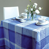 "Mille Wax Ocean Tablecloth 45""x45"", 100% Cotton"