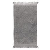"""Boheme Gris Guest Towel 12""""x20"""", 100% Cotton"""