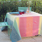 """Mille Eole Marin Tablecloth 71""""x118"""", Cotton"""