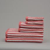 Positano Coral 6 pieces Bath Set, 100% Cotton.