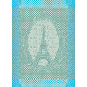 "Eiffel Vintage Celadon Kitchen Towel 22""x30"", Cotton"