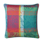 "Mille Dentelles Floralies Cushion Cover 16""x16"", 100% Cotton"