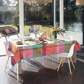 """Mille Gardenias Bourgeons Tablecloth 71""""x118"""", 100% Cotton"""