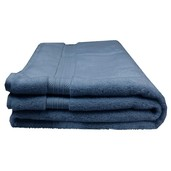 "Elea Bleu Ardoise Bath Sheet 39""x59"", 100% Cotton"