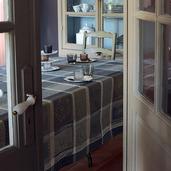 "Mille Wax Cendre Tablecloth 45""x45"", 100% Cotton"