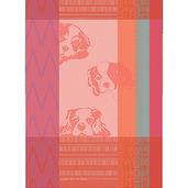 Petits Chiens Rose Kitchen Towel, Cotton