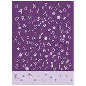 Scrabble Lavande Brise Printed Kitchen Towel