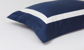 Proust Navy with White Band King Duvet Set, 300 thread count, 100% Cotton.