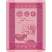Torchon Hortensia Rose Kitchen Towel