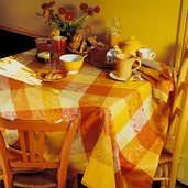 "Mille Couleurs Soleil Tablecloth 45""x45"", 100% Cotton"