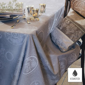 "Mille Eclats Macaron Tablecloth Round 69"", Coated Cotton"