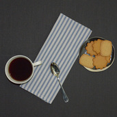 Columni Blue Napkin, Cotton-4ea